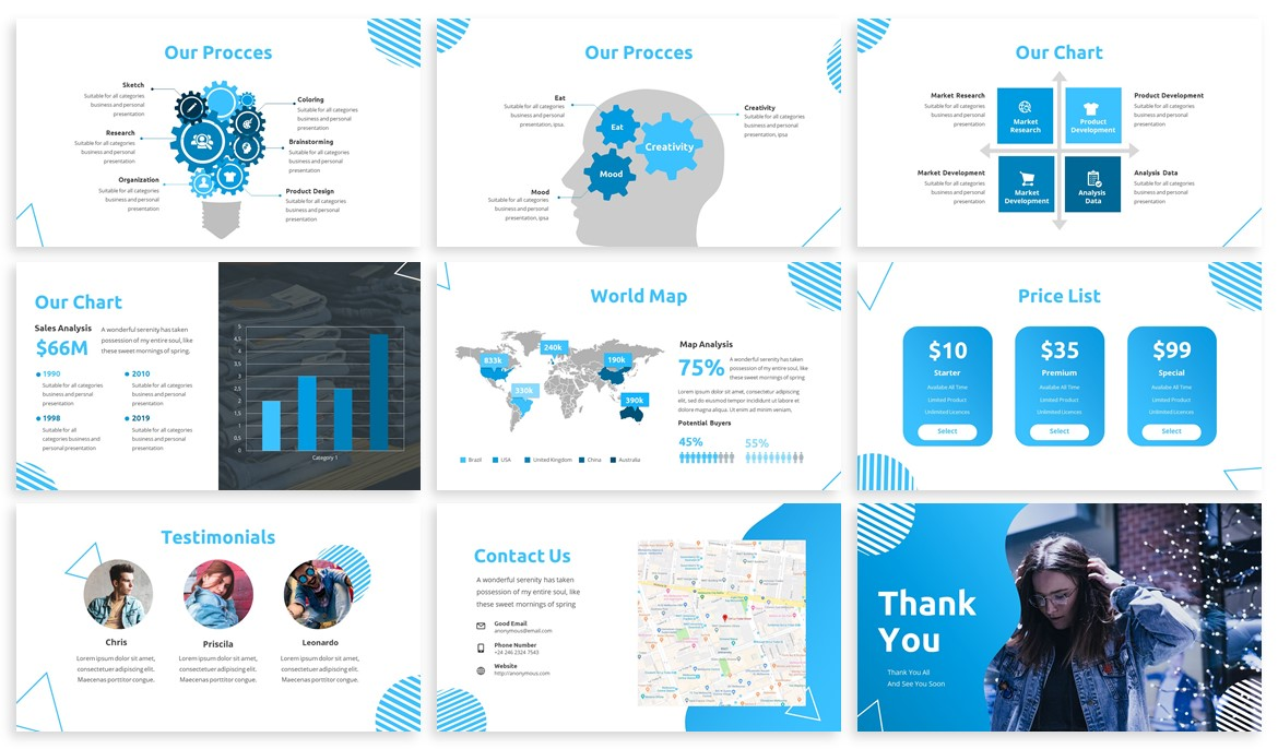 Pungky - Fashion & Creative Powerpoint Template example image 4