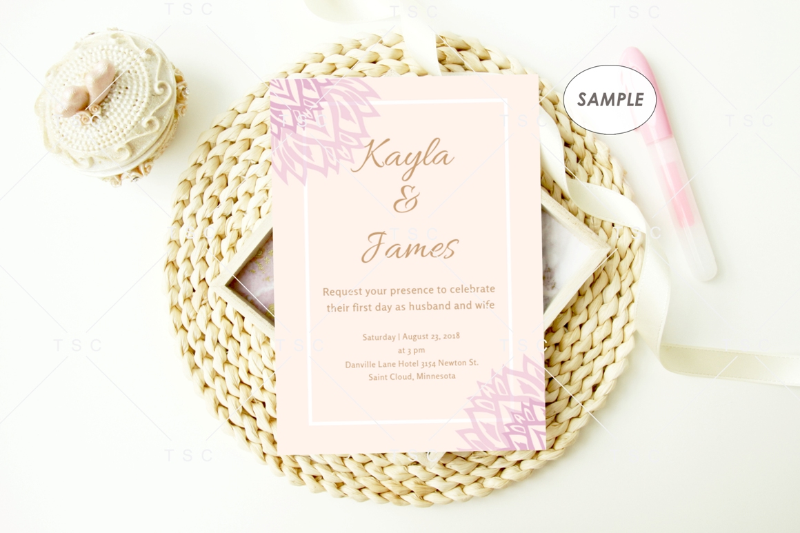 "5"" x 7"" Card Mockup / Invitation Card / Save the date Card example image 2"