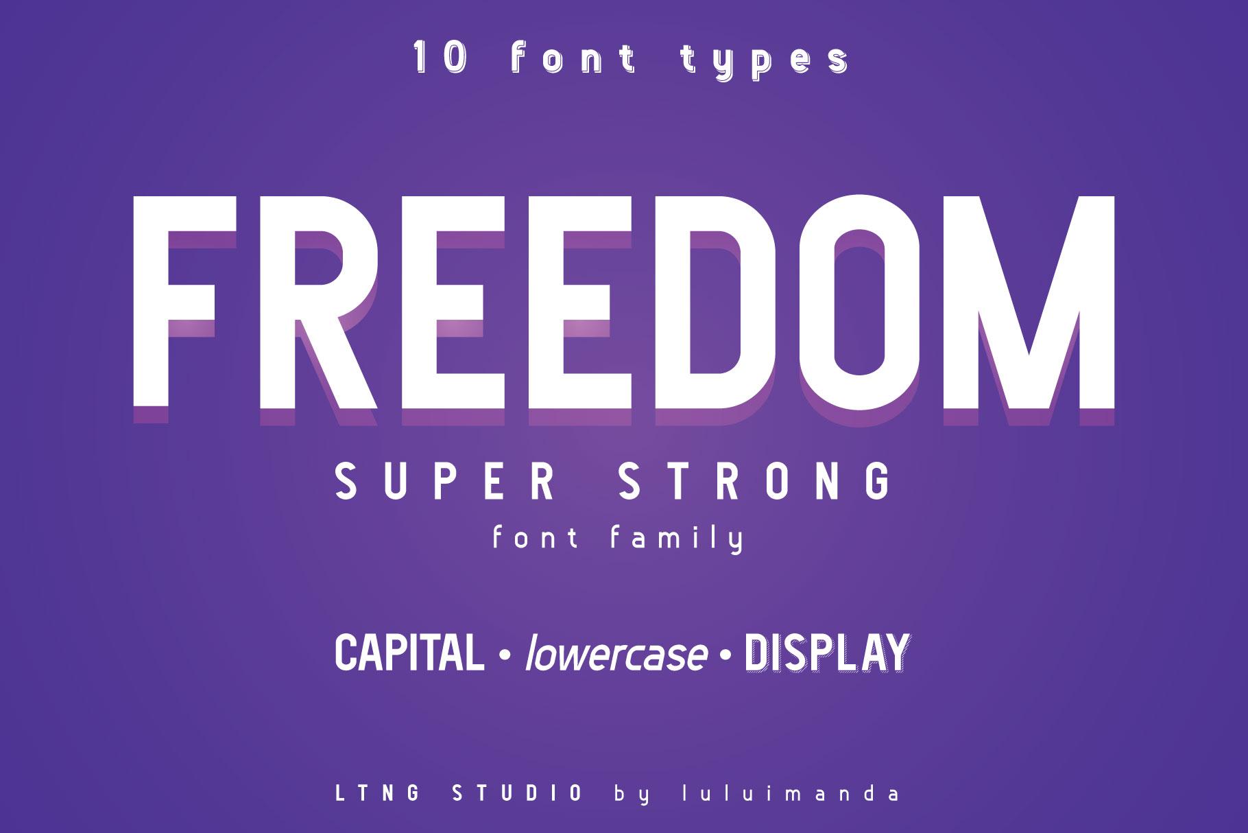 FREEDOM font family example image 1