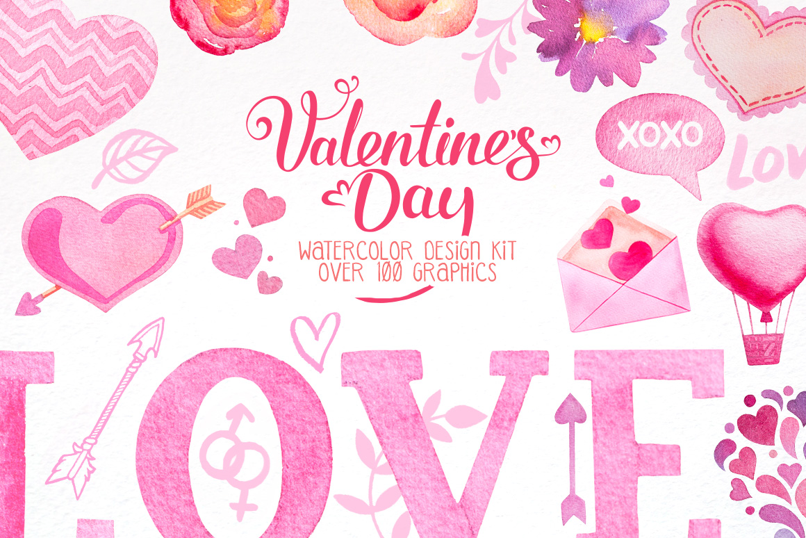 Valentine Day Design Kit example image 1
