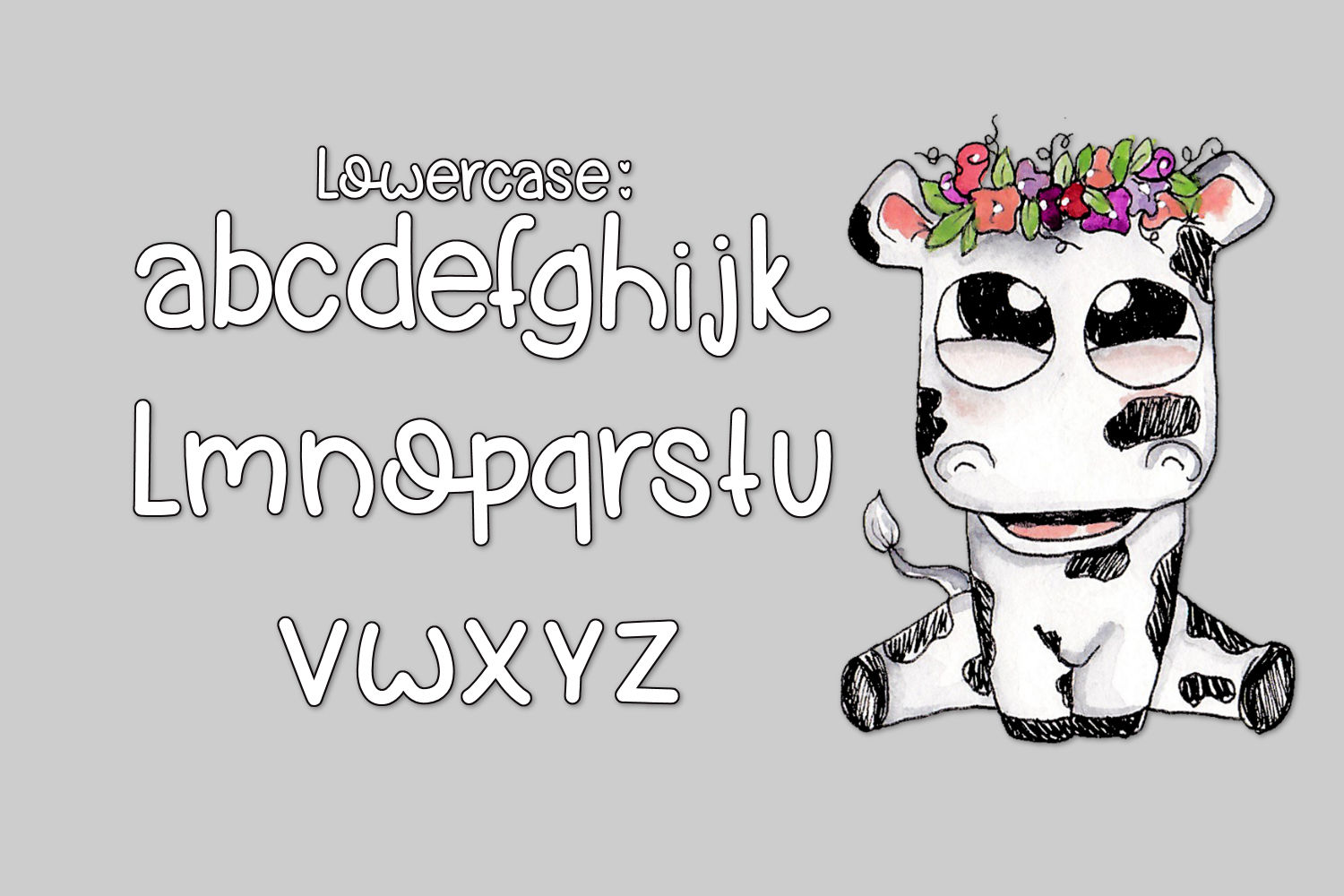 Cow Pies, A Handwritten Font example image 5