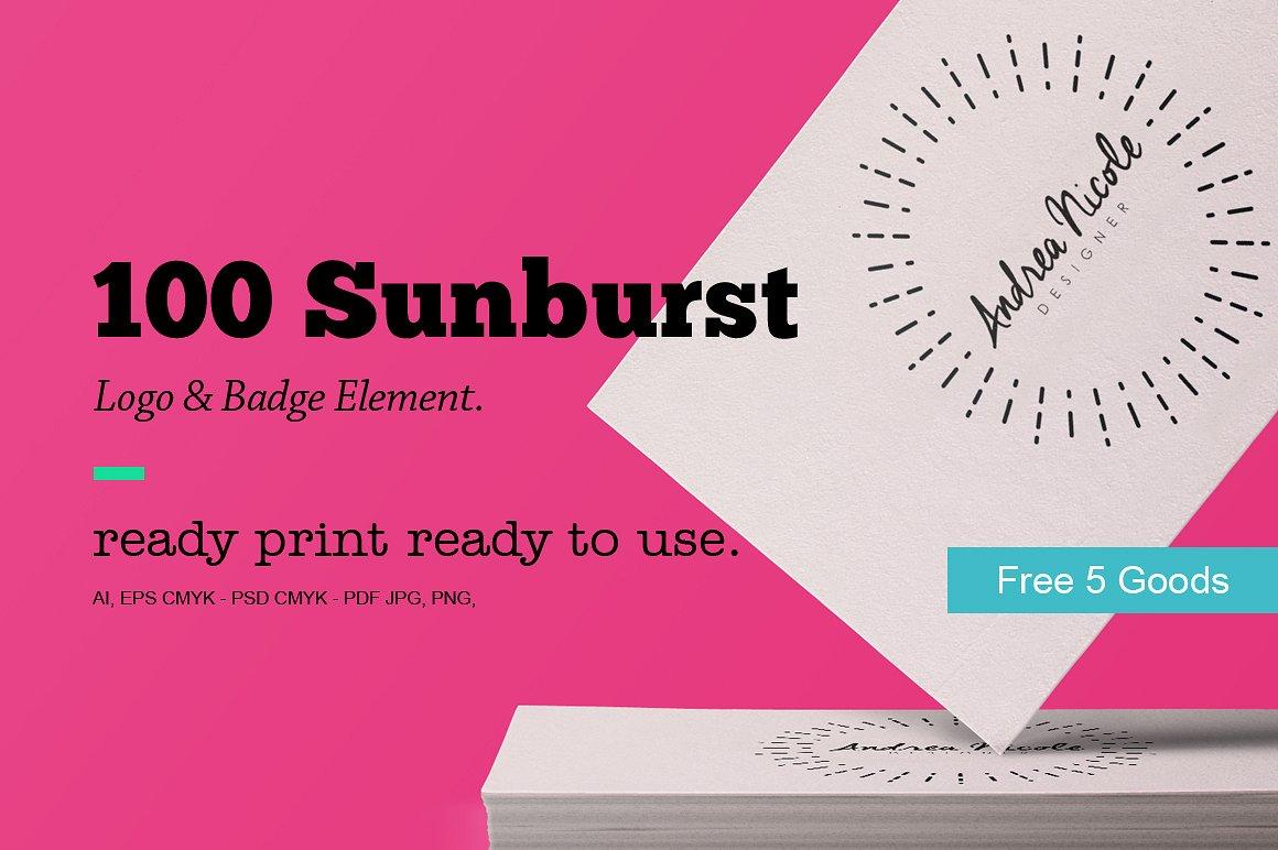 Sunburst Logo & Badge Element example image 6