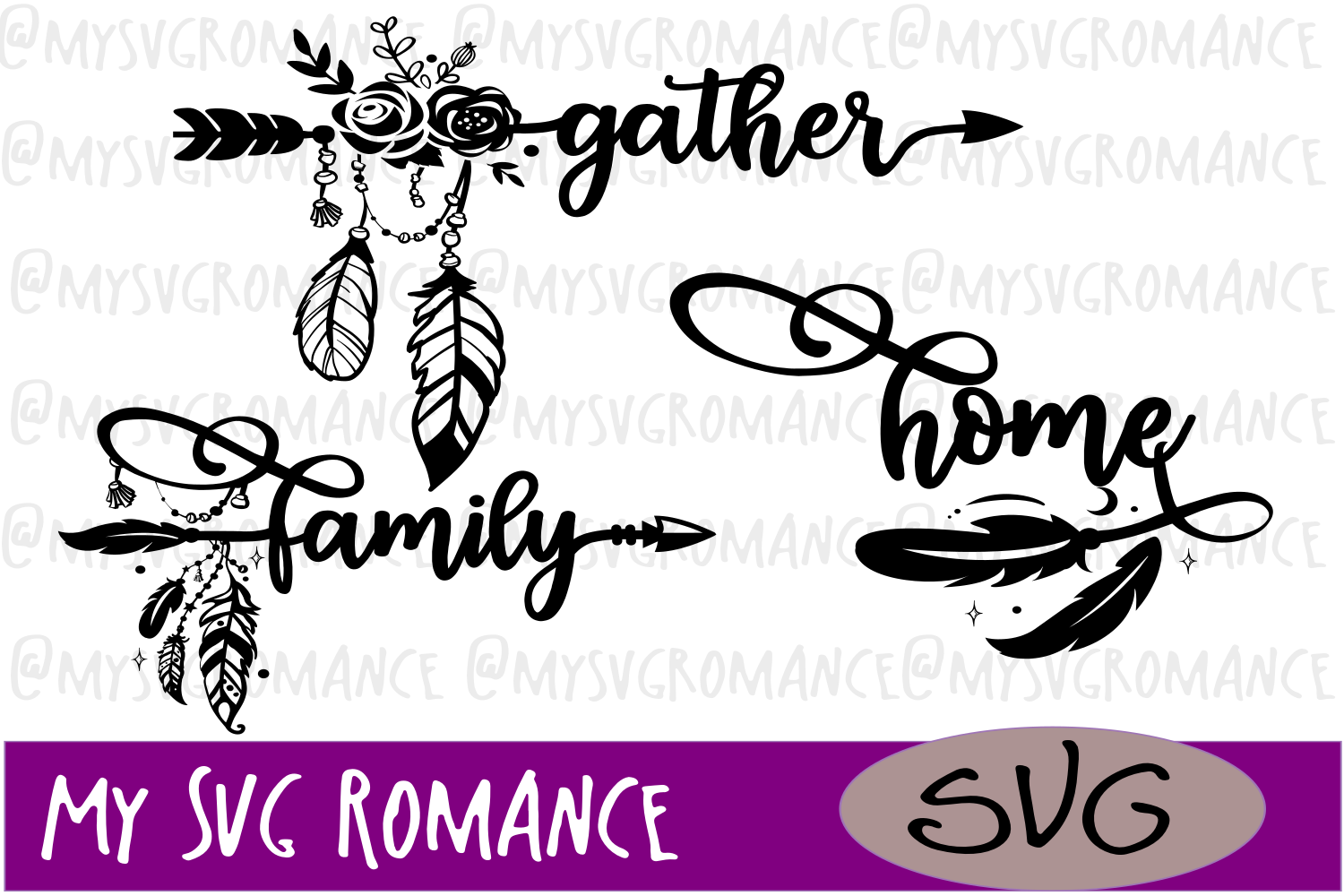 Gather - Family - Home - Arrows SVG Set example image 1