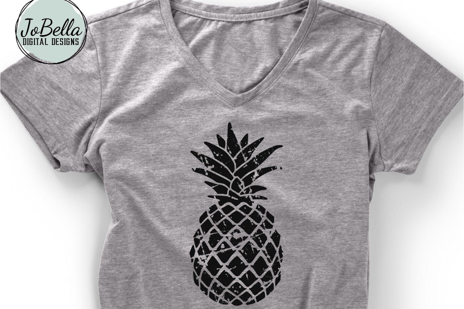Distressed Pineapple SVG and Printable example image 1