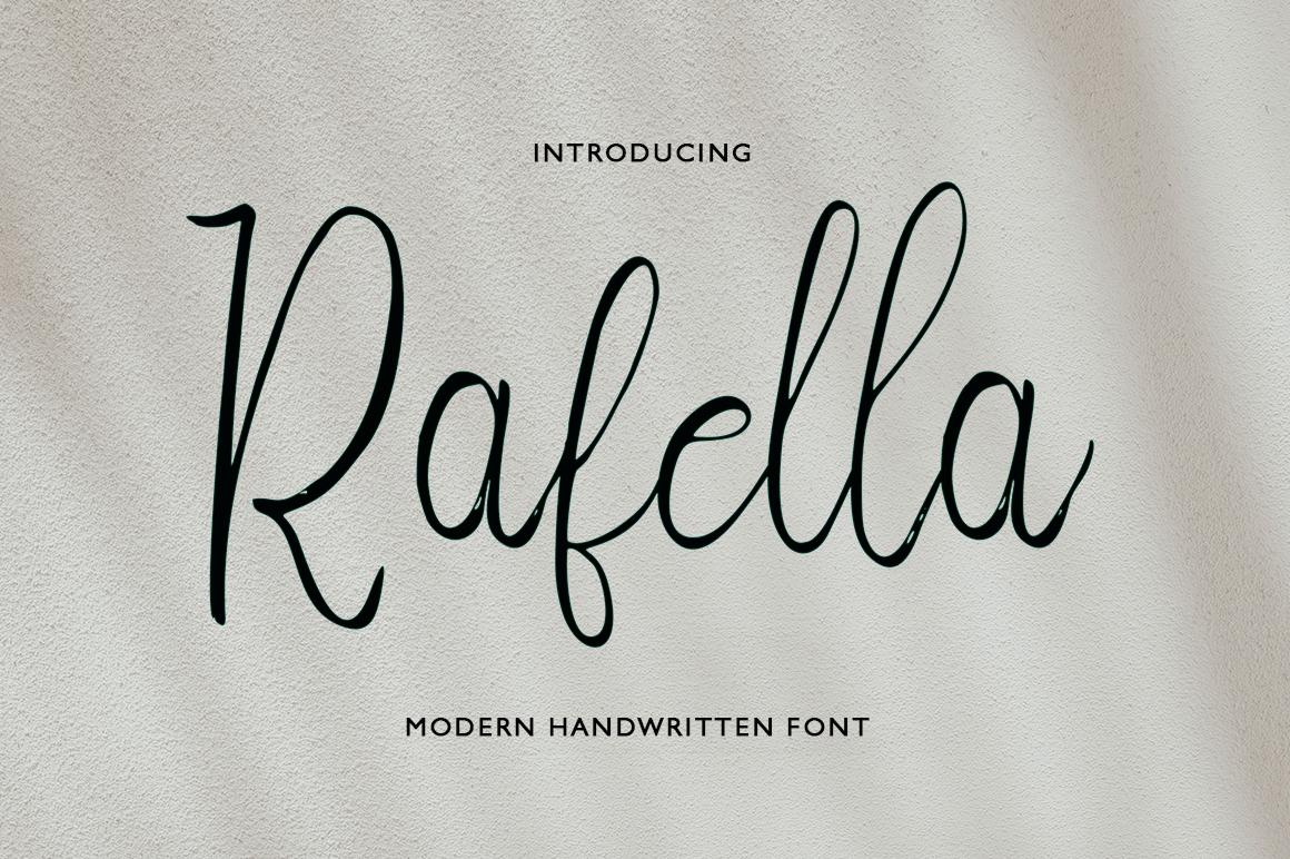 Rafella Script example image 1