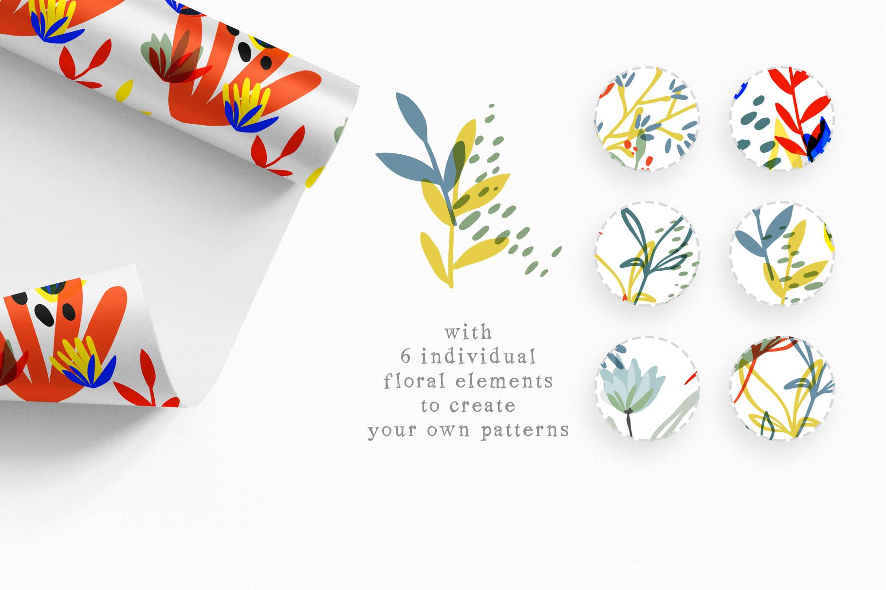 Botanical Basics Pattern Set example image 10