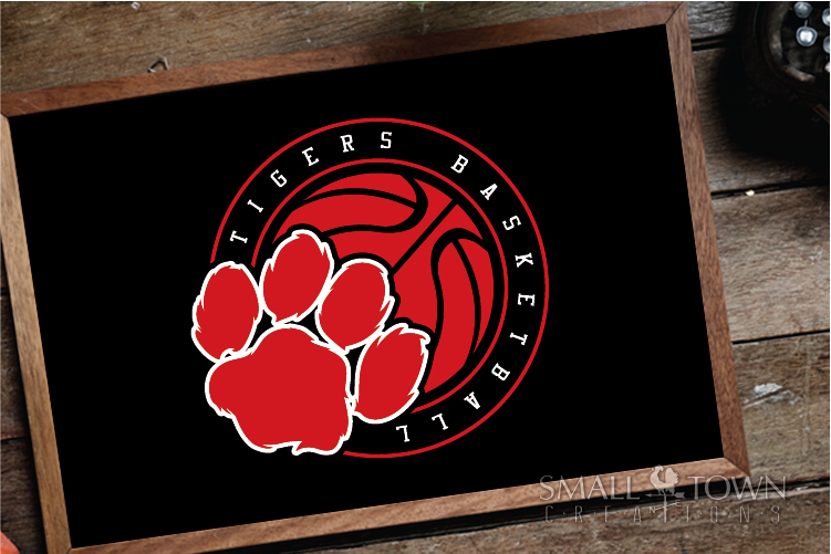 Tigers basketball, tiger mascot, team, PRINT, CUT, DESIGN example image 3