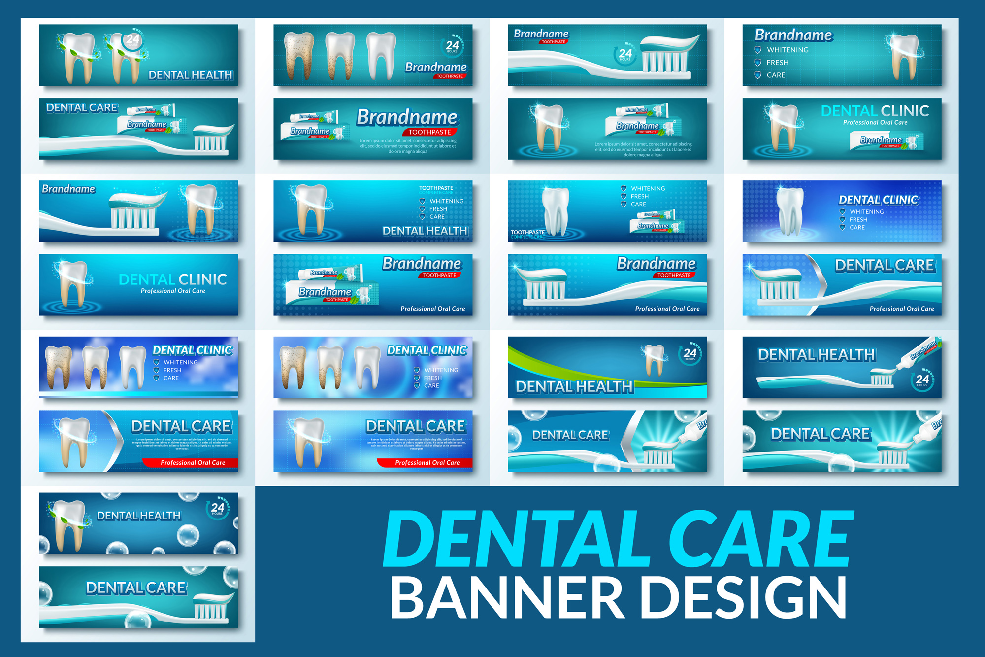Deep Cleaning Dental Care Background Poster example image 2