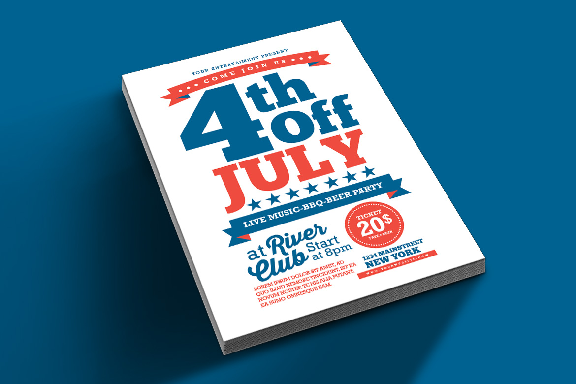 4th Of July Flyer example image 3