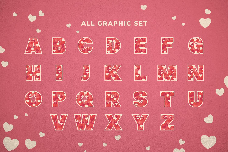 Love Alphabet Set example image 4