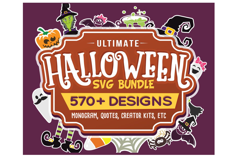Ultimate Halloween SVG Bundle Vol. 1 & Vol. 2 in SVG & DXF example image 2