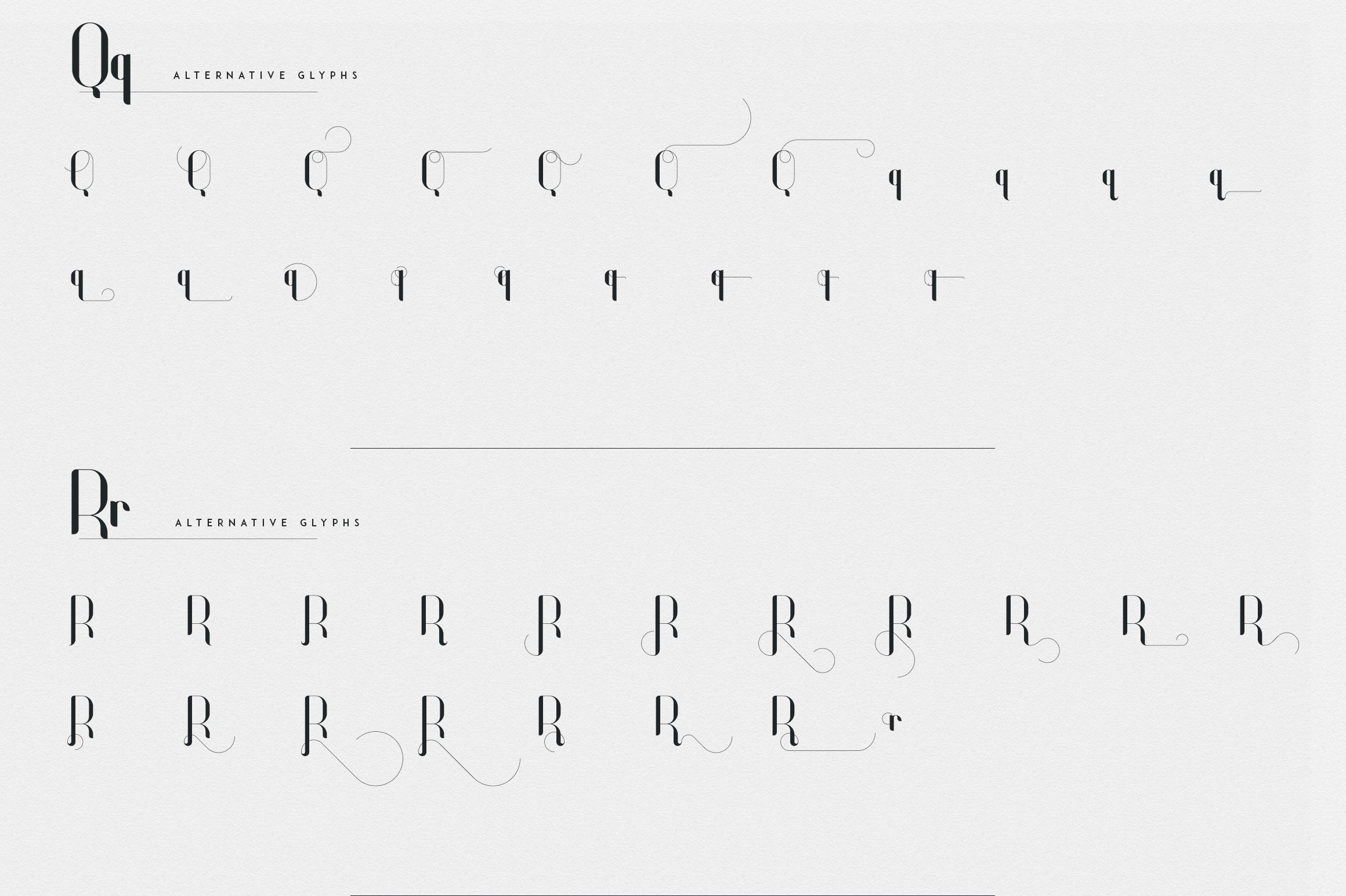 Fonatik Display font Extras example image 19