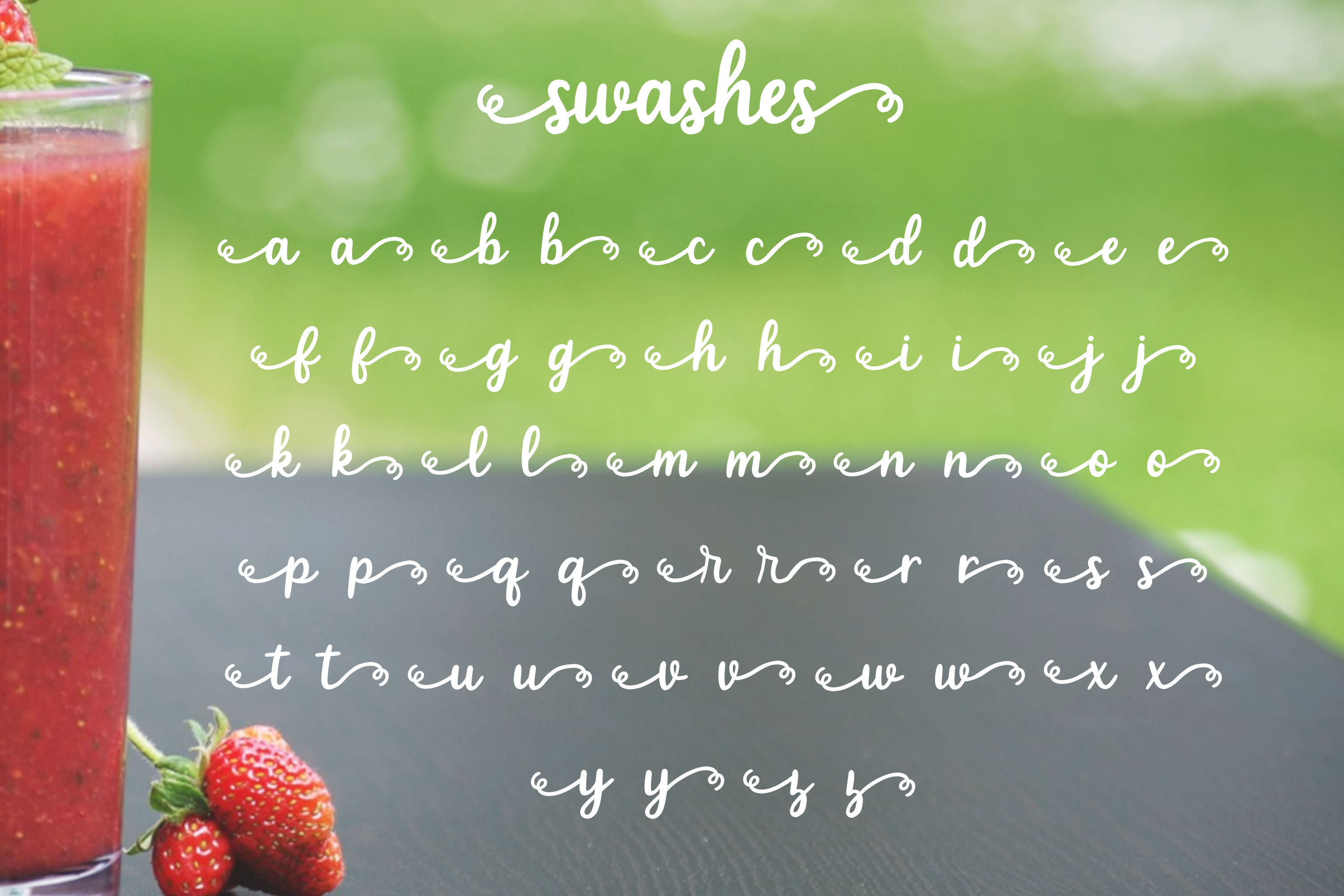 Strawberry Smoothie- A handlettered script font example image 5