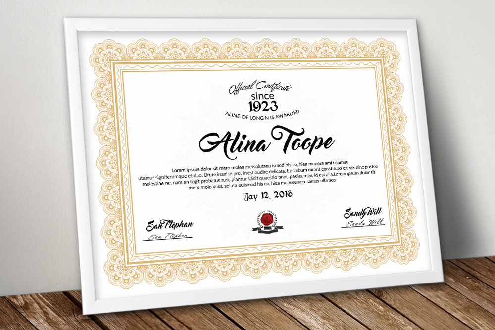 Certificate Template example image 1