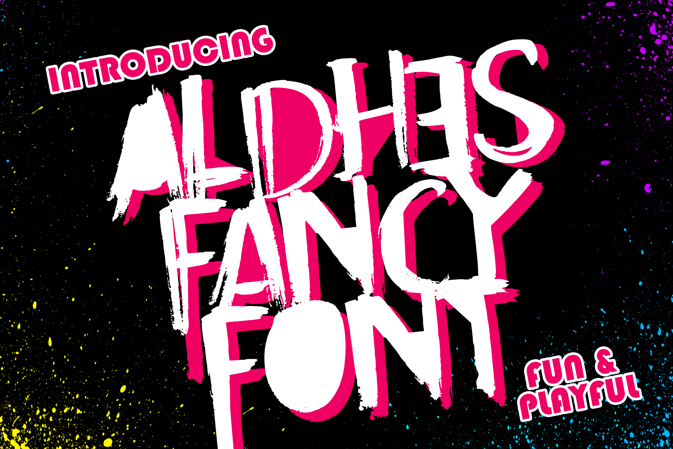Aldhes Fancy Font example image 1