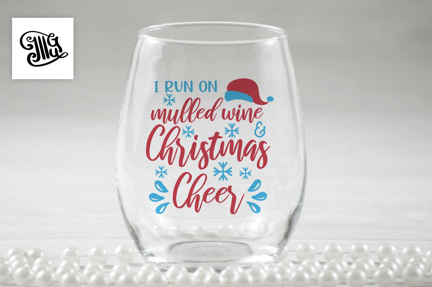 Christmas wine svg bundle example image 11