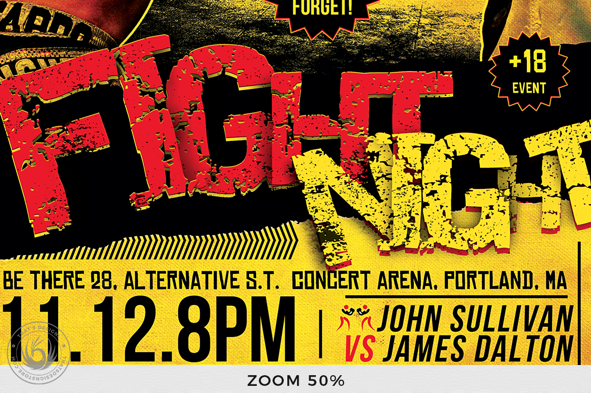 Fight Night Flyer Template V1 example image 7