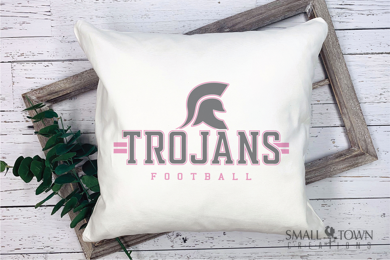 Trojan Football, Team, Sports, Logo, PRINT, CUT & DESIGN example image 4