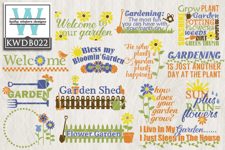 BUNDLE Gardening SVG - Gardening Bundle KWDB022 example image 1