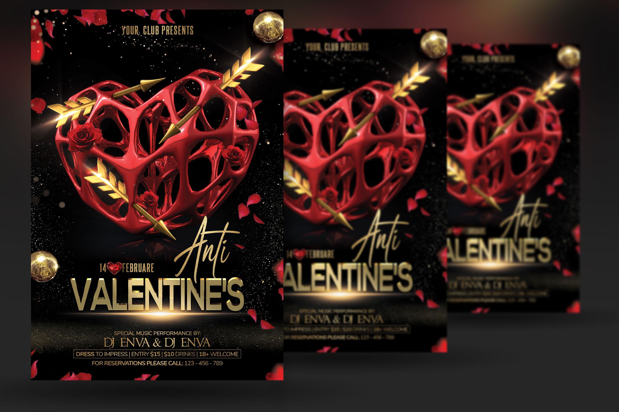 Anti Valentine Day Flyer example image 2