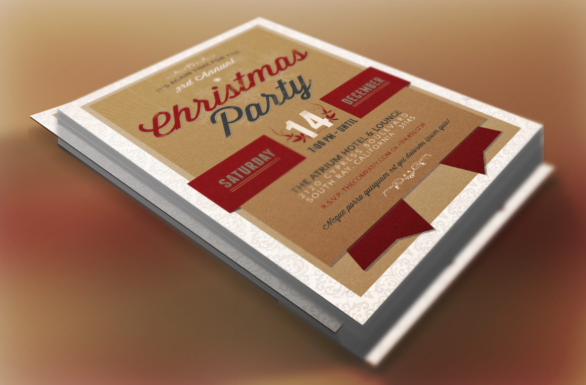 Christmas Party Invitation Template example image 2