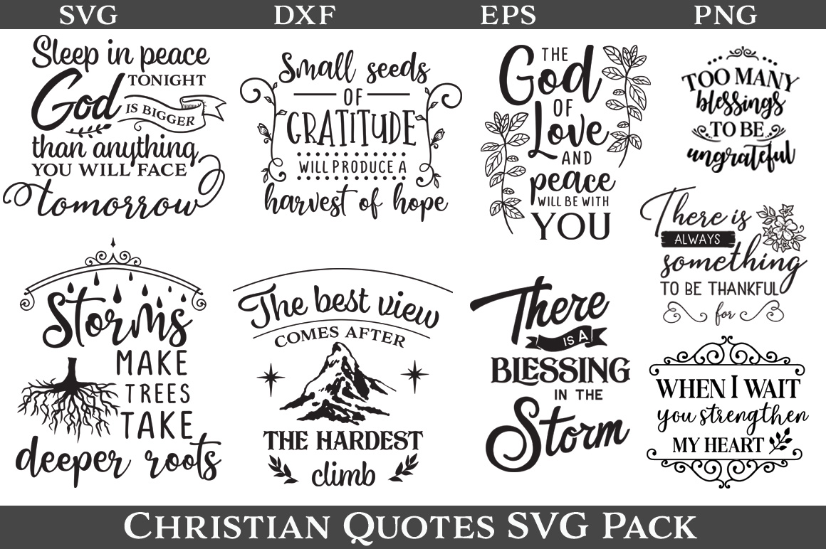 48 Christian Quotes SVG Pack example image 5