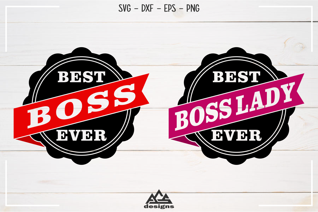 Best Boss Best Boss Lady Stamp Svg Design example image 3