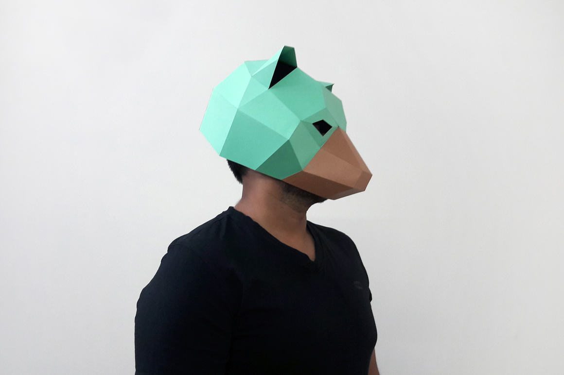 DIY Bear Mask - 3d papercraft example image 3
