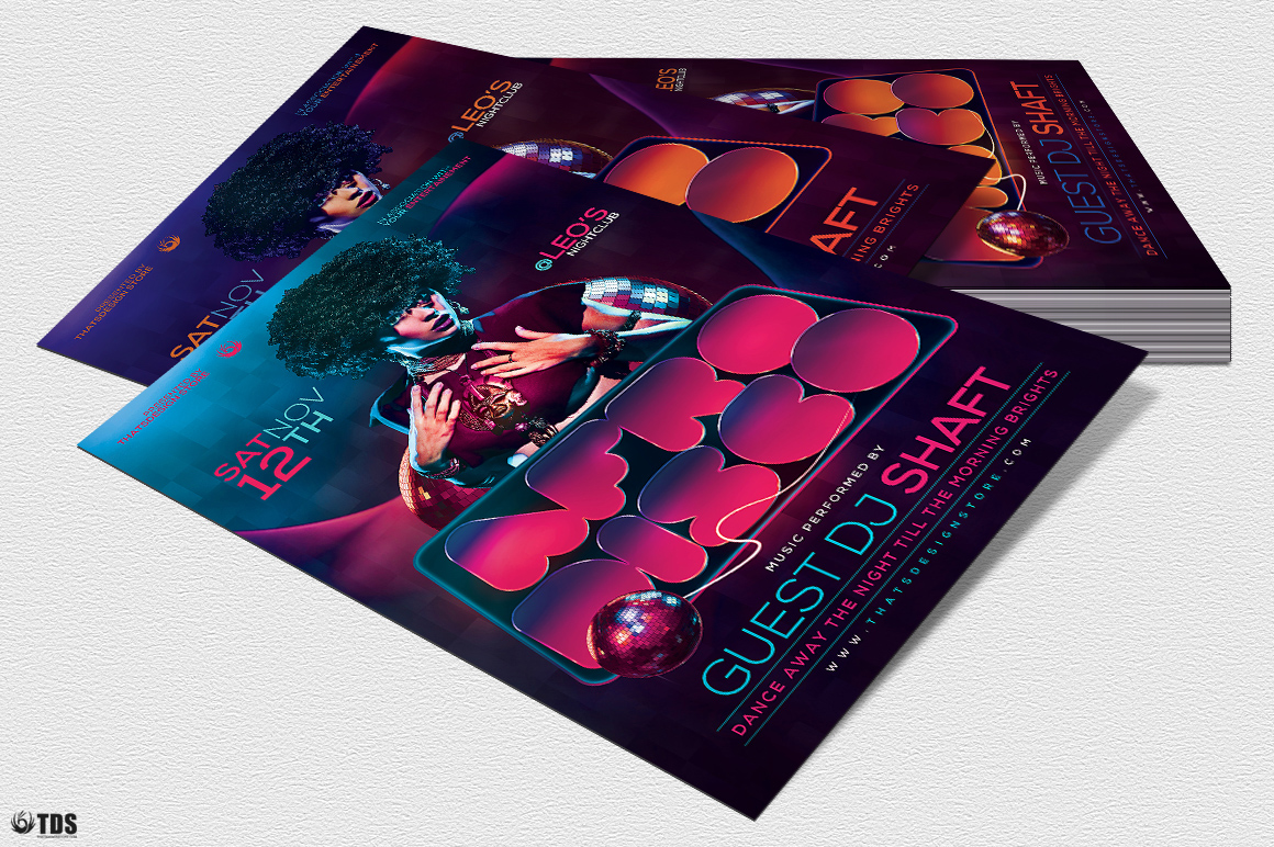 Afro Disco Flyer Template example image 5