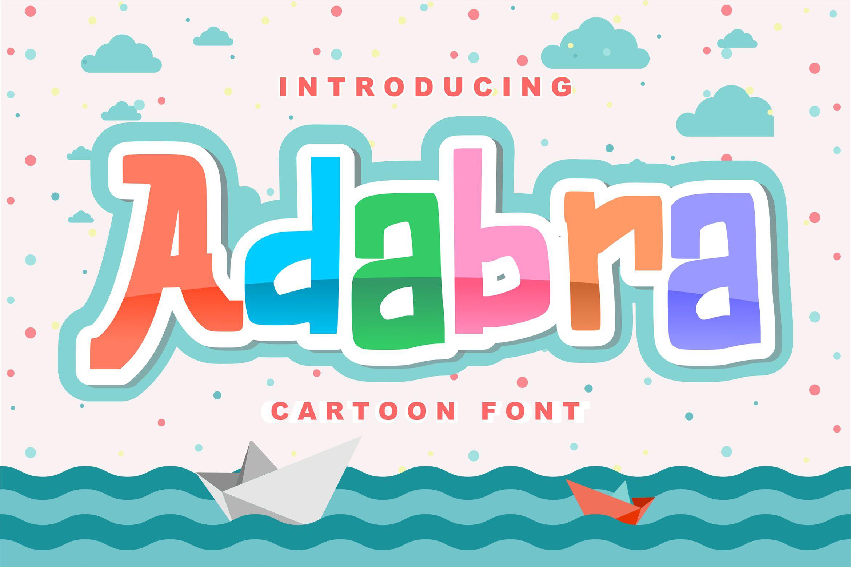 Adabra | Decorative Cartoon Font example image 1