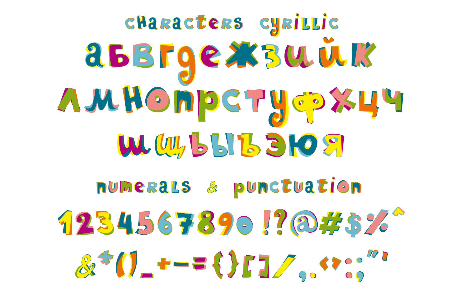 Ziggy color font example image 3