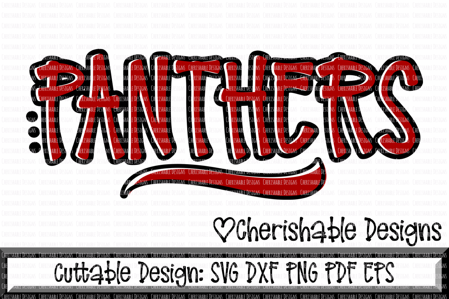 Panthers Sport SVG DXF PNG PDF EPS example image 1