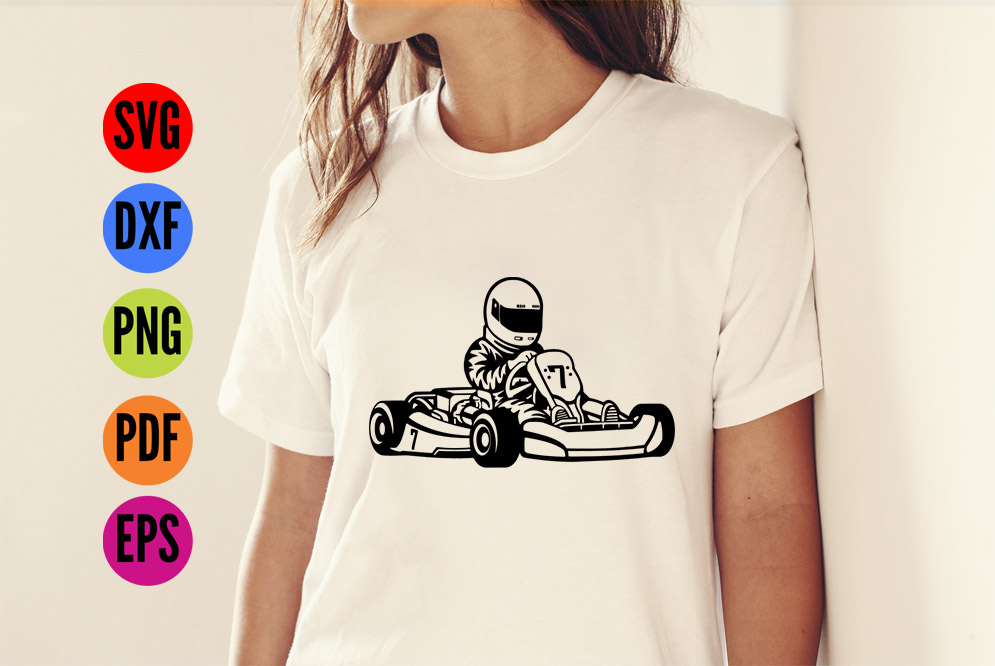 Go Karting SVG Cutting File  example image 2