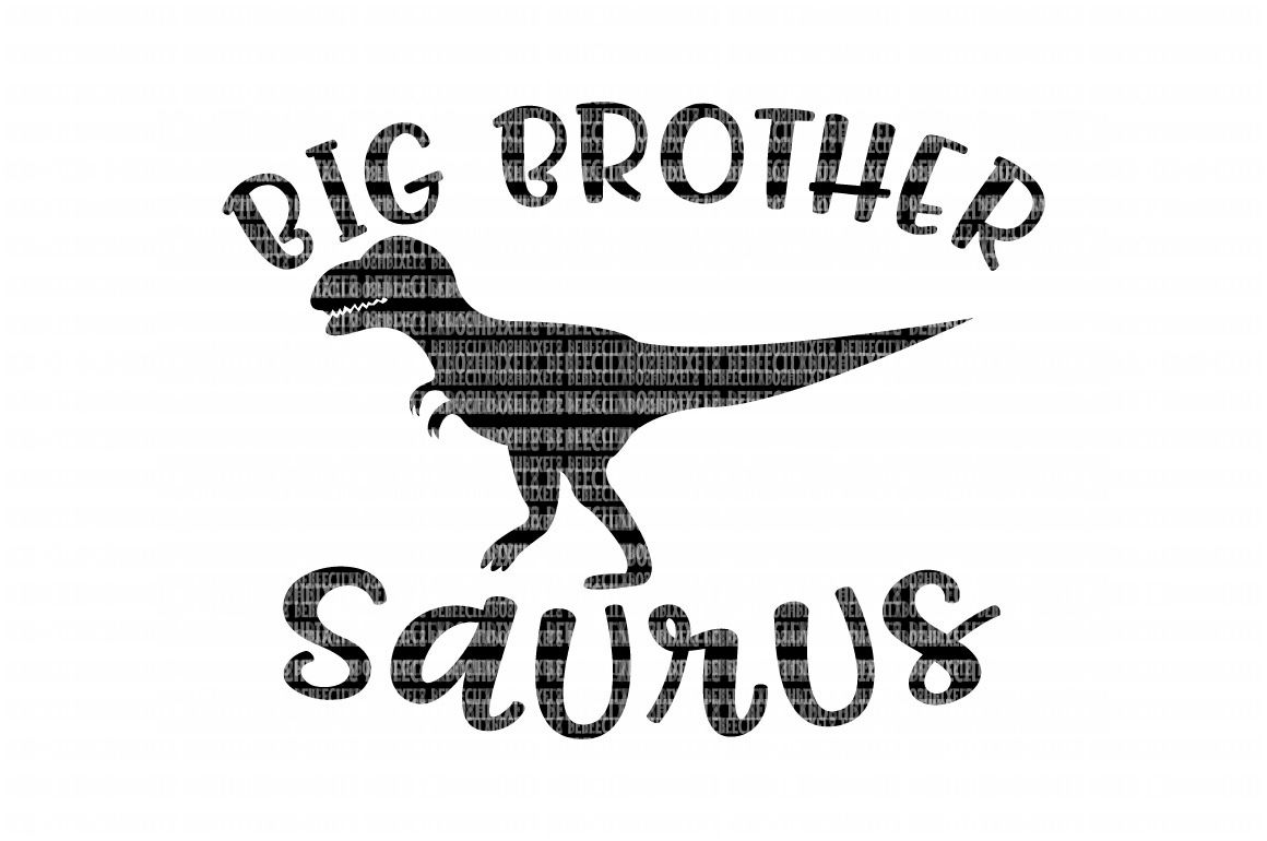 Big Brother Saurus SVG Files for Silhouette and Cricut Design Space Christmas Cut File Printable Transfer Decal DXF Commercial Use example image 1