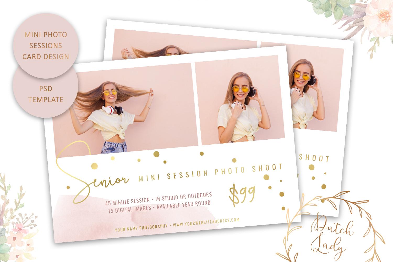 PSD Photo Mini Session Card Template - Design #32 example image 1