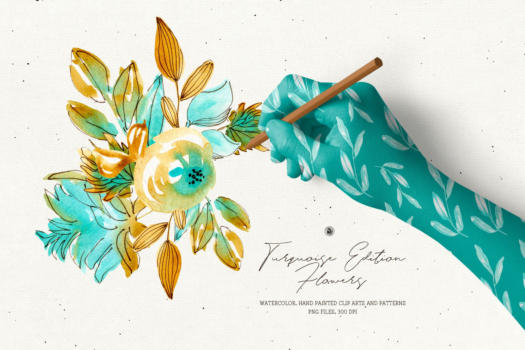 Turquoise Edition Flowers example image 1