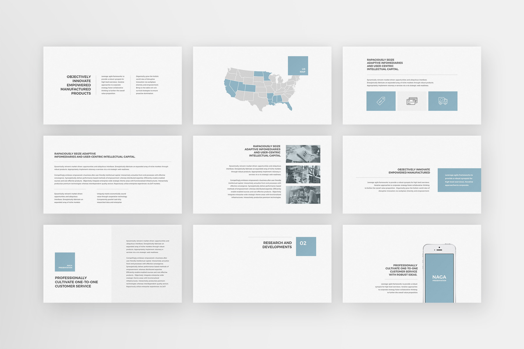 Naga - PowerPoint Template example image 3