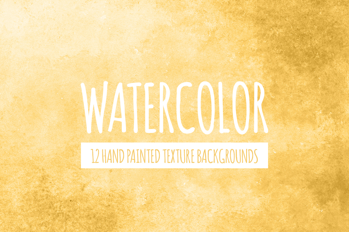 Yellow Gold Watercolor Texture Backgrounds example image 1