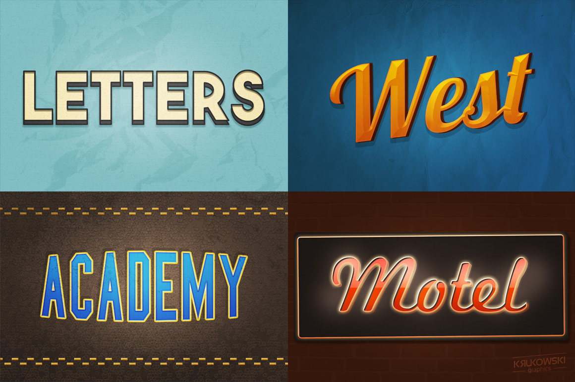 Vintage Old Text Effects Mockup example image 3