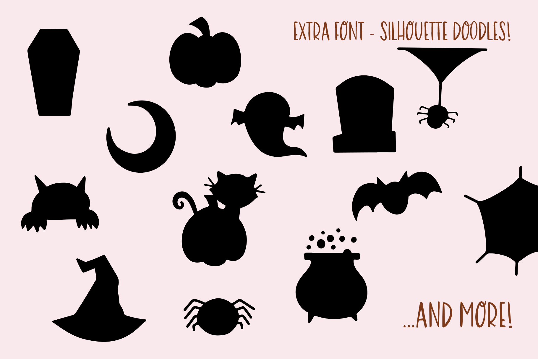 Halloween Moon - A Halloween Font with Extras! example image 11