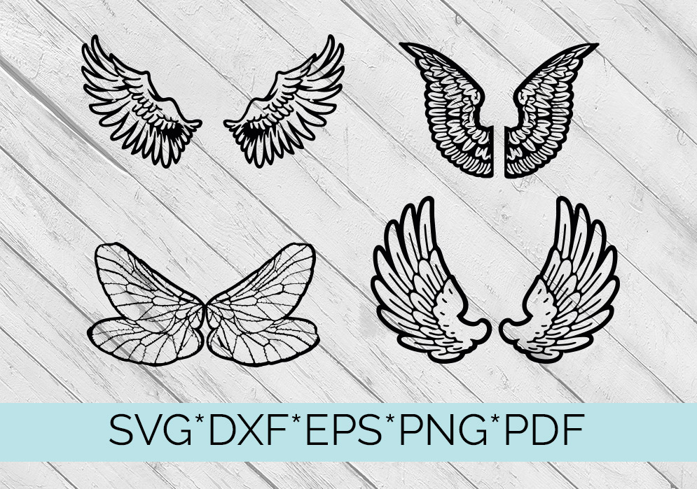 40 Sets of Wings Svg Cutting Files example image 3
