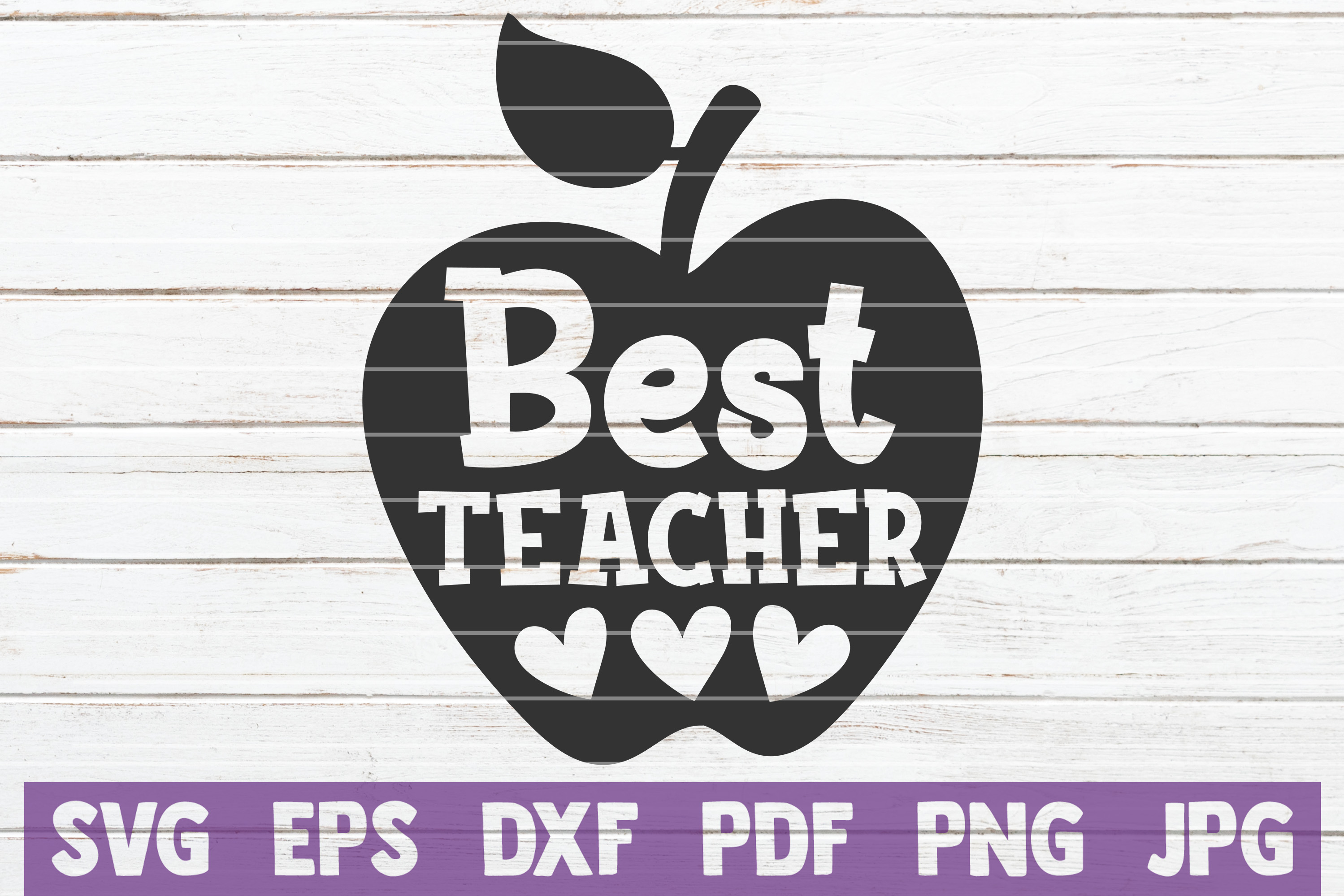Best Teacher SVG Cut File | commercial use example image 1