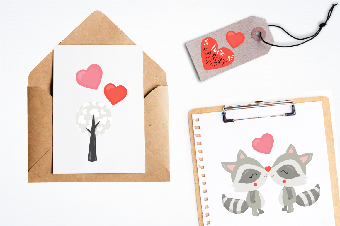 Racoon Love Bandit graphic and illustrations example image 2