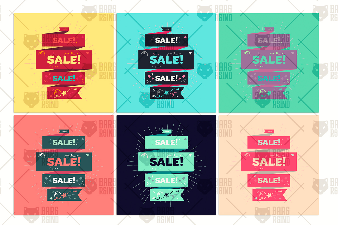Vector Sale Ribbon example image 4