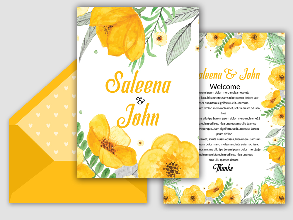 Double sisded Save The Date Invites Card example image 2