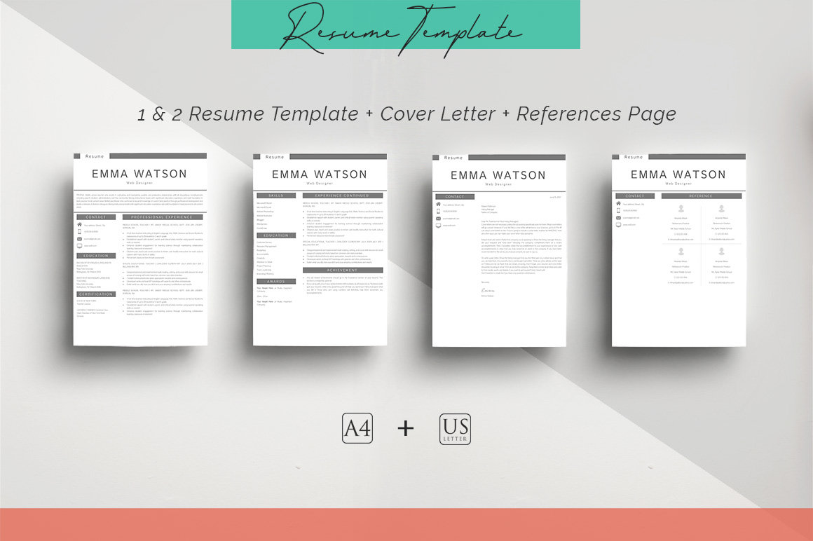 ULTIMATE BUNDLE Resume Template 10 in 1 example image 5
