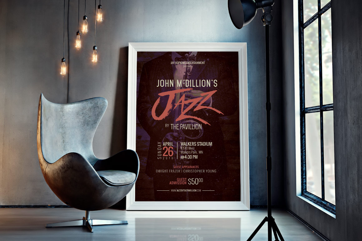 Jazz Concert Flyer Poster Template example image 7