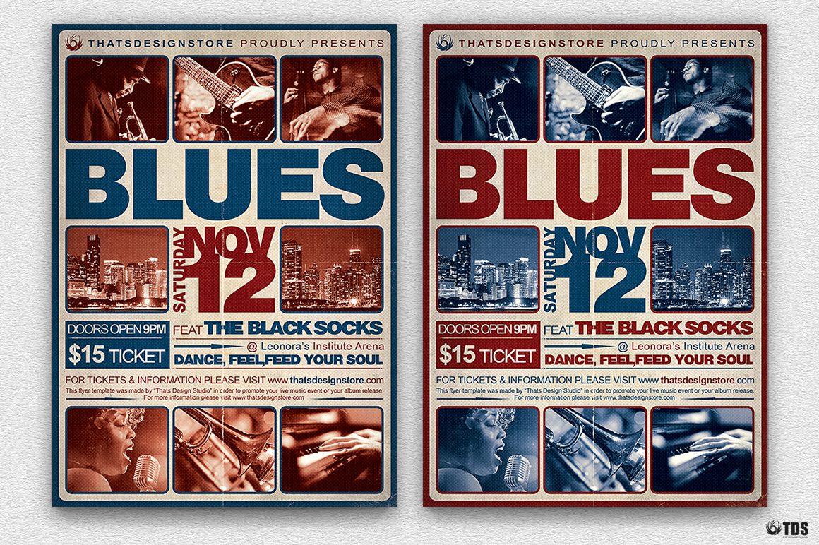 Blues Festival Flyer Template V2 example image 2