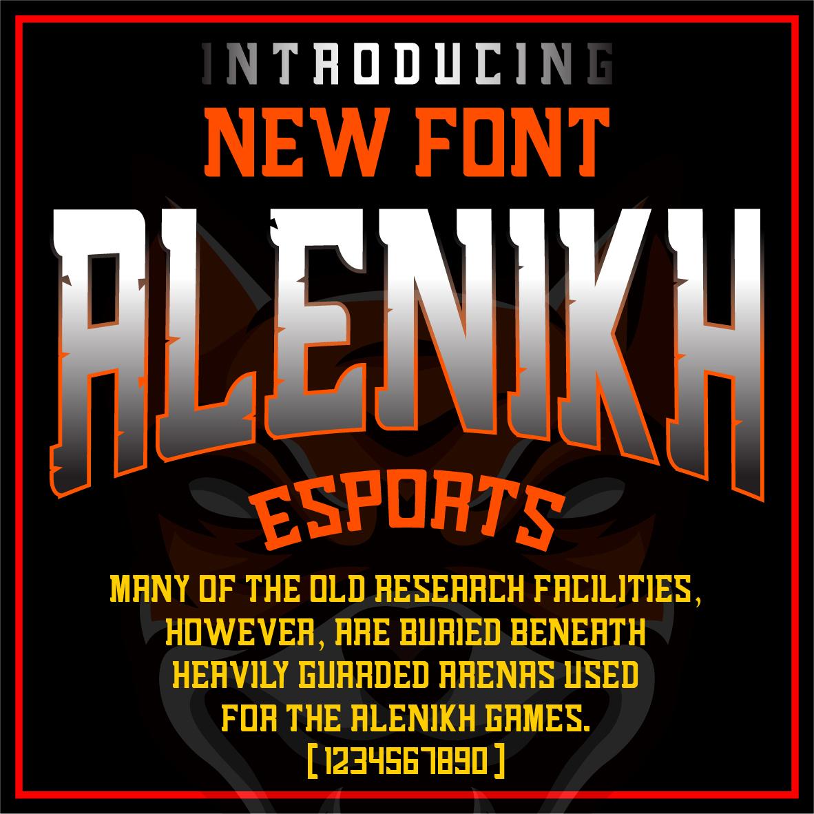 Alenikh Esports Font Logo example image 6