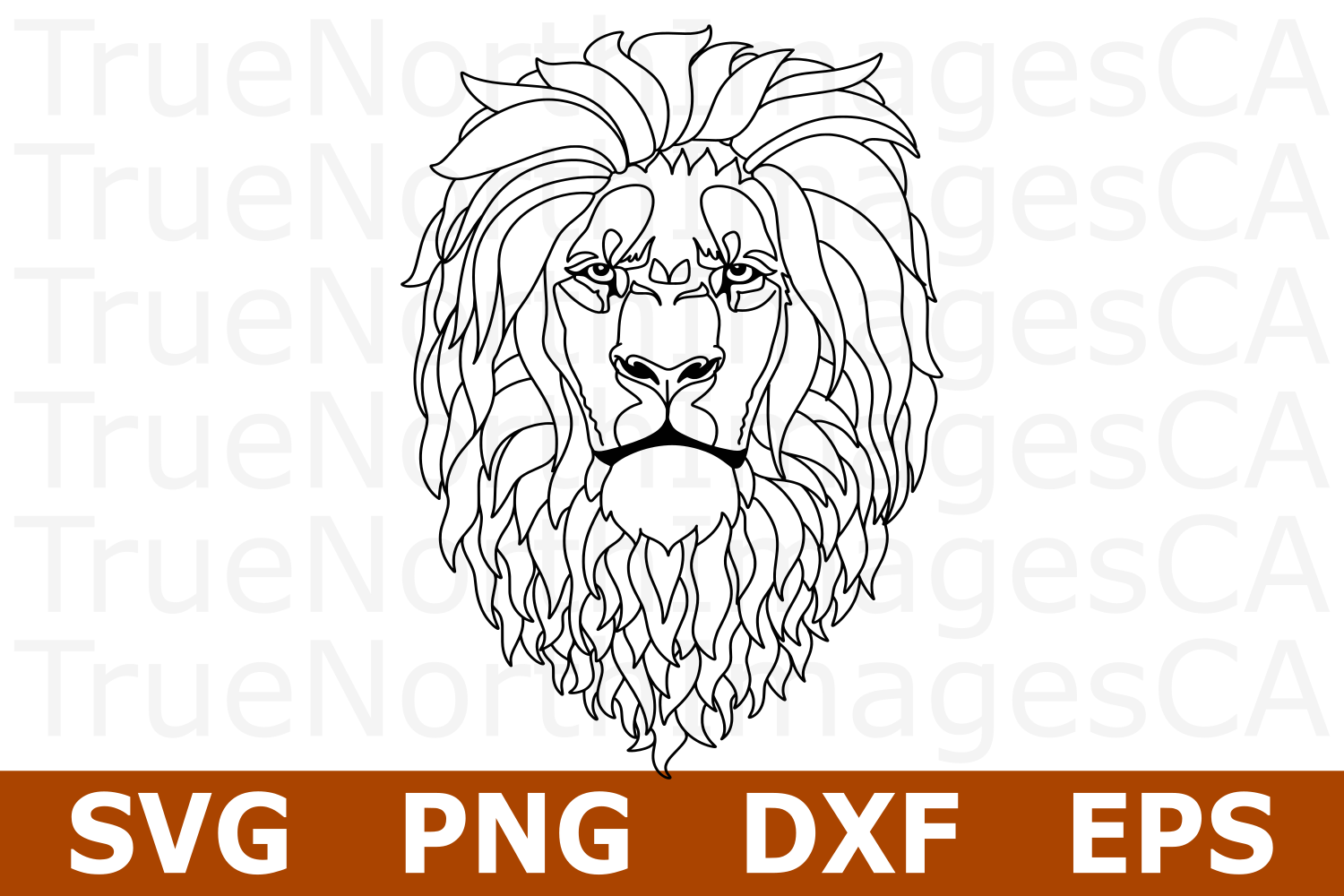 Lion - An Animal SVG Cut File example image 1